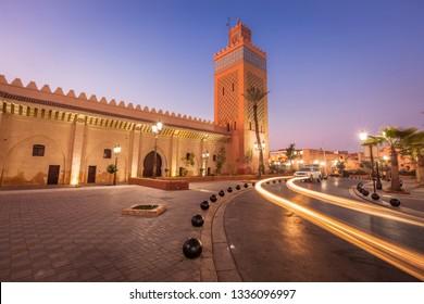 Kasbah Mosque in Marrakesh. Marrakesh, Marrakesh-Safi, Morocco.