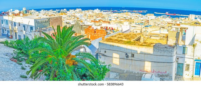 The Kasbah of Sousse overviews all the costal area of the city, Tunisia.
