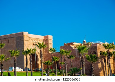 Kasbah of Udayas fortress in Rabat Morocco. Kasbah Udayas is ancient attraction of Rabat Morocco- February 5, 2018