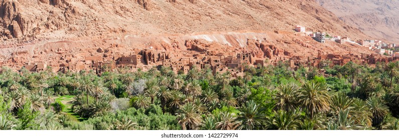 Kasbahs in Dades valley in the south of Morocco, Africa. / Street of the Kasbahs