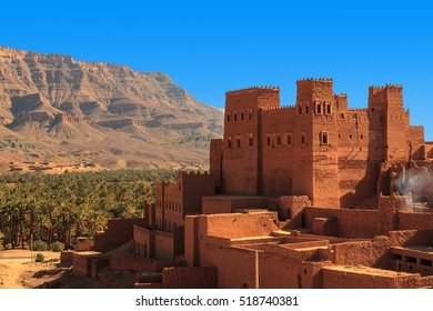 Kasbahs in the Draa valley. Morocco