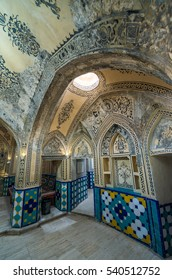 Kashan, Iran - 17th October, 2016: Interior of Sultan Amir Ahmad Historical Bath in Kashan city