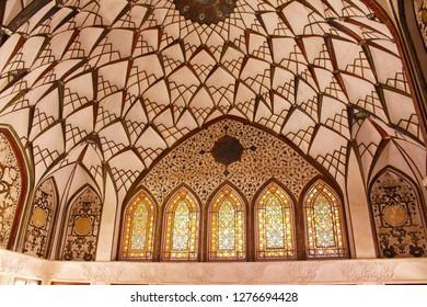 Kashan, Iran - April, 2016. Tabatabaei House. A historic house museum in Kashan, Iran