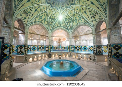 Kashan, Iran, april 29, 2018: Sultan Amir Ahmad Bathhouse in Kashan, Iran