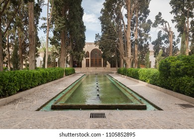 Kashan, Iran, april 30, 2018: Fingarden in Kashan. Fingarden is a historical Persian garden, one of the most famous royal gardens of the country and the place where Amir Kabir was murdered.
