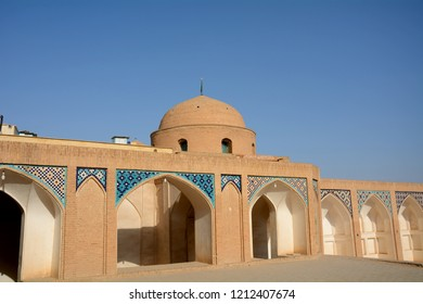 KASHAN, IRAN - AUGUST 29: Agha Bozorg mosque at 29 August, 2018 at Kashan, Iran. Agha Bozorg is the most beautiful historical mosque in the city.