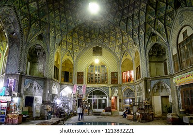 KASHAN, IRAN - AUGUST 29: Bazaar at 29 August, 2018 at Kashan, Iran. Kashanhas an interesting medieval bazaar in the old town.