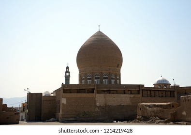 KASHAN, IRAN - AUGUST 29: Habib Musa mosque at 29 August, 2018 at Kashan, Iran. Habib Musa is the grave of Sultan Abbas I.