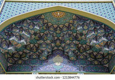 KASHAN, IRAN - AUGUST 29: Imamzadeh at 29 August, 2018 at Kashan, Iran. Imamzadeh is a holy grave of alocal Muslim saint.