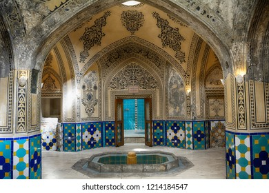 KASHAN, IRAN - AUGUST 29: Sultan Mir Ahmad's Hammam at 29 August, 2018 at Kashan, Iran. Hammam is a medieval bath in the Middle East.
