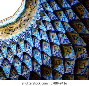 Kashan, Iran - Circa February 2016 - The interior of a Kashan Bazaar which is located in the centre of Kashan city.