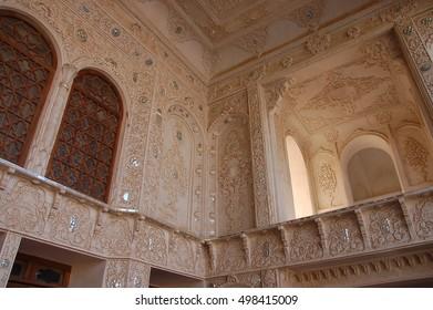 Kashan, Iran- January, 04, 2012: Khan-e Tabatabei traditional house