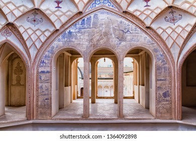KASHAN, IRAN - NOV 20, 2016: Tabatabei historic house in Kashan, Iran