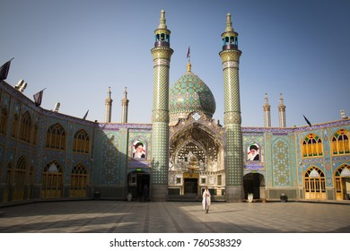 KASHAN, IRAN -  NOVEMBER 2017: The shrine of Imamzadeh Hilal Ibn Ali is one of the most famous mosques near Kashan in the centre of Iran
