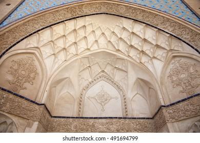 KASHAN, IRAN - SEPTEMBER 12, 2016: Khan-e Tabatabei traditional house on 12 September, 2016 in Kashan, Iran.