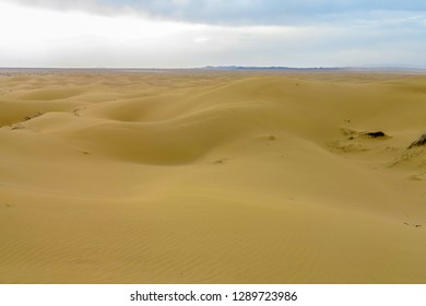 Kashan Maranjab Salt Desert with Appealing Common Sand Dunes