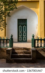 Kashgar, Xinjiang, China: a door in the interiors of Id Kah Mosque, the most famous attractions in Kashgar Ancient Town. Built in 1442, it is the largest mosque in China