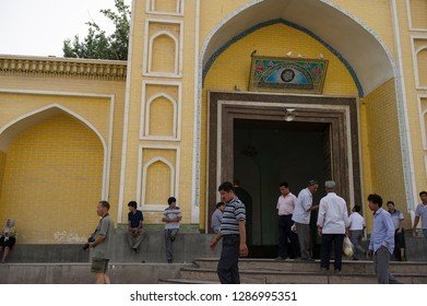 KASHGAR, XINJIANG, CHINA- JUNE 05, 2011: Kashgar Id Kah Mosque, Xinjiang, China .