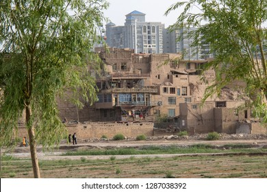 KASHGAR, XINJIANG, CHINA- JUNE 06, 2011:Ancient town of Kashgar, Xinjiang, China.