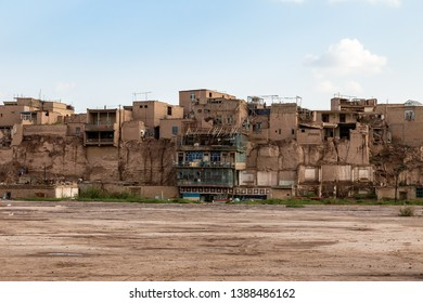 Kashgar, Xinjiang, China: poor districts on the outskirts of Kashgar Old Town, a major tourist spot along the Silk Road and one of the westernmost cities of China