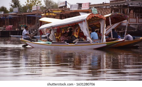 Kashmir - India 16th Sept 2017 Shikara ride on Dal lake in Srinagar, India
