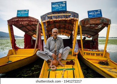 KASHMIR, INDIA - 17th SEPT 2019; Portrait of a Kashmiri man in Kashmir. Since 1947 the ownership of Kashmir has been disputed between Pakistan and India.