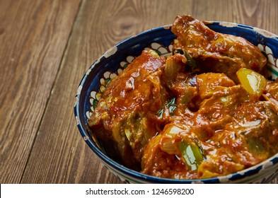 Kashmiri Mutton Curry Aab Gosht, popular versions are Kashmiri and Iranian.