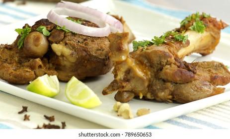 Kashmiri raan is a roast of lamb/goat in Kashmiri style.