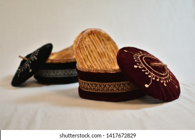 Kashmiri Tilla embroidery work basket.