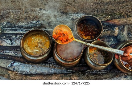Kashmiri Wazwan - delicious dishes usually served on marriage ceremonies.