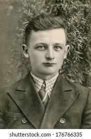 KASILAN, POLAND, JUNE 14, 1942 - Vintage photo of man