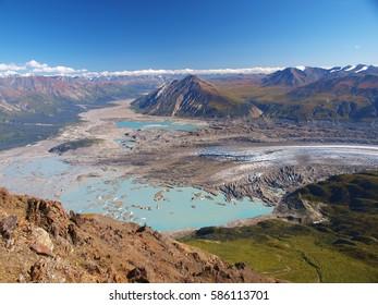 Kaskawulsch glacier from Observation mountain, Yukon, Canada