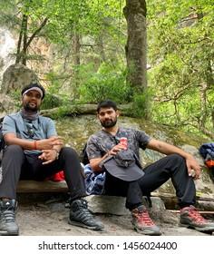 KASOL, HIMACHAL PRADESH, INDIA MAY 2019 canteen between trekking enjoying hault with coke