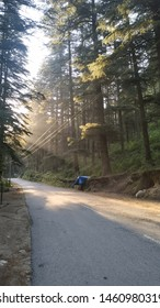 kasol morning. cycling with scenery