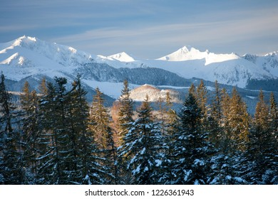 Kasprowy Wierch Mountain (on the left), Tatra Mountains, Tatra National Park, Poland