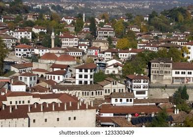 Kastamonu, Safranbolu / Turkey - November 14 - 2015 : City view of Safranbolu traditional Turkish houses