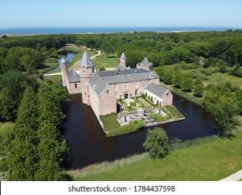 Kasteel (Castle) Westhove, Domburg, Zeeland, The Netherlands: Drone shots 25-5-2020.