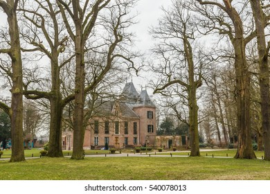 Kasteel Keukenhof, Lisse, Keukenhof 1, province of Zuid Holland, Netherlands, March 12, 2012: Facade of the Castle, park with old trees and lawns now venue for civil ceremonies and exhibition area - Shutterstock ID 540078013