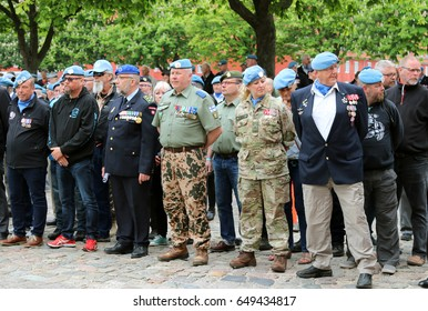 "KASTELLET, COPENHAGEN, DENMARK - MAY, 29, 2017:This is happening at a veteran event in Kastellet, Copenhagen, on ""The International Day of United Nations Peacekeepers"""