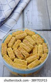 Kastengel or Kue Keju or Dutch Indonesian cheese stick cookies