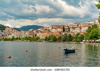 Kastoria city and Lake in Greece