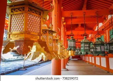 Kasuga-Taisha Shrine temple in Nara park, Japan