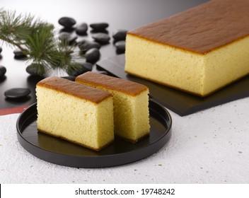 Kasutera is a popular Japanese sponge cake