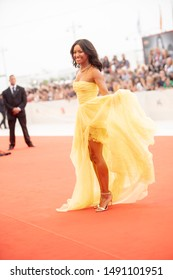 Kat Graham walks the red carpet ahead of the Opening Ceremony  during the 76th Venice Film Festival at Sala Grande on August 28, 2019 in Venice, Italy.