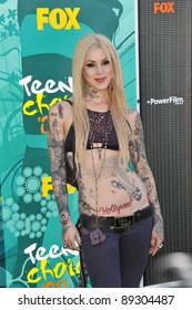 Kat Von D at the 2009 Teen Choice Awards at the Gibson Amphitheatre, Universal City. August 9, 2009  Los Angeles, CA Picture: Paul Smith / Featureflash