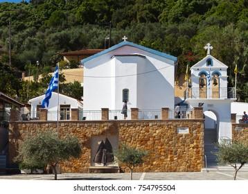 KATAKOLON (OLIMPIA), GREECE - October 04, 2016: Church of St. Nicholas in the port town of Katakolon