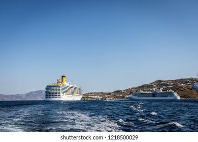 KATAKOLON,GREECE - JUNE 13,2017:we descend to the ground at katakolon with the boats