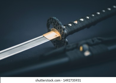 Katana traditional Japanese sword natural light