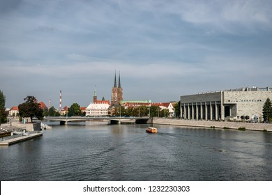 The Katedra and university at the Odra in Wroclaw, Poland