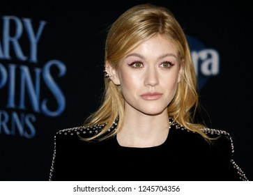 Katherine McNamara at the World premiere of Disney's 'Mary Poppins Returns' held at the Dolby Theatre in Hollywood, USA on November 29, 2018.